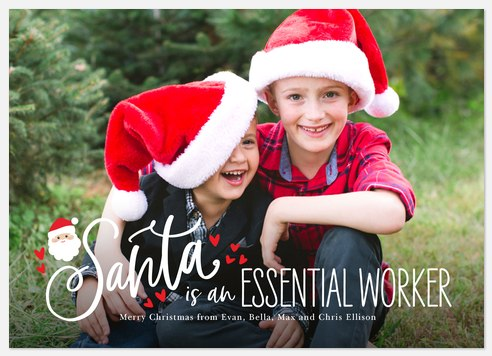 Essential Santa Holiday Photo Cards