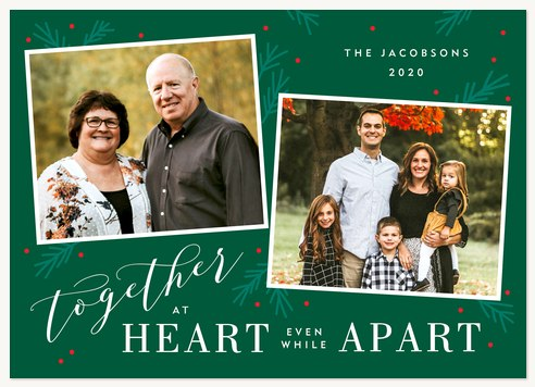 Together at Heart Personalized Holiday Cards
