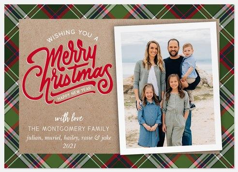 Plaid 'n Kraft Holiday Photo Cards