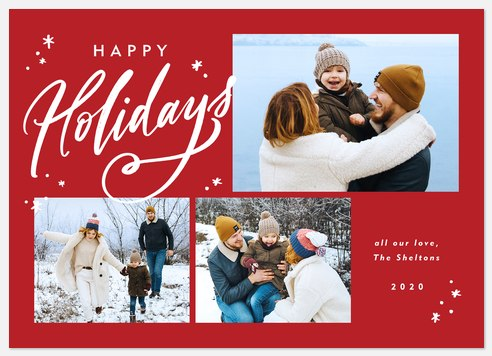Holiday Wisps Holiday Photo Cards