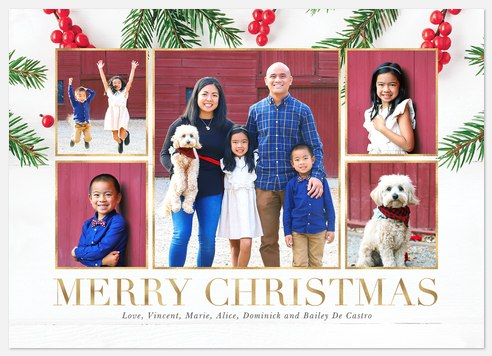Winterberry Clippings Holiday Photo Cards