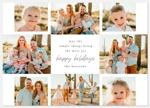 The Simple Things Holiday Photo Cards