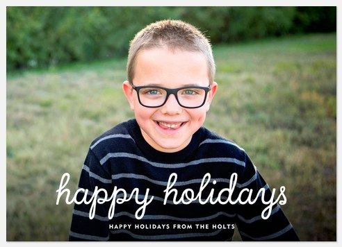 Primary Greeting Holiday Photo Cards