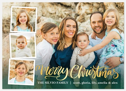 Overlaid Trio Holiday Photo Cards
