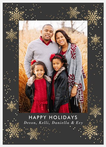 Gilded Snow  Holiday Photo Cards