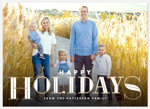 Gilded Detail Holiday Photo Cards