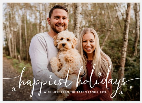 Happiest Whimsy Holiday Photo Cards