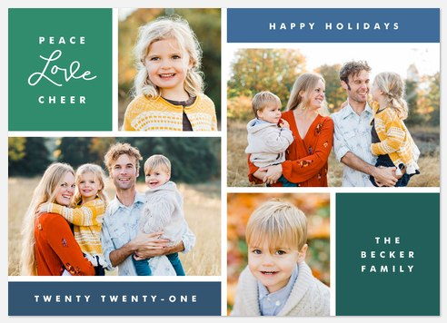 Evergreen Palette Holiday Photo Cards