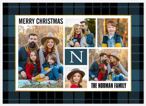 Winter Flannel Holiday Photo Cards