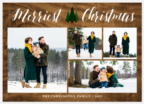 Mod Evergreen  Holiday Photo Cards
