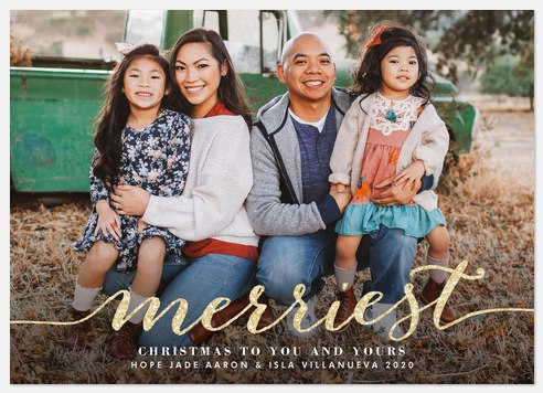 Merriest Glitz Holiday Photo Cards