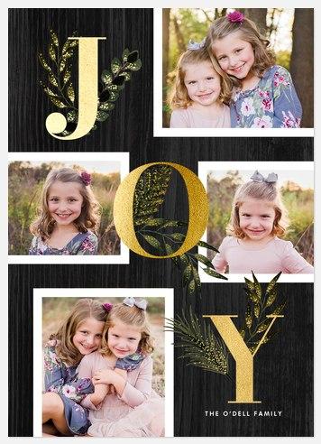 Growing Joy Holiday Photo Cards