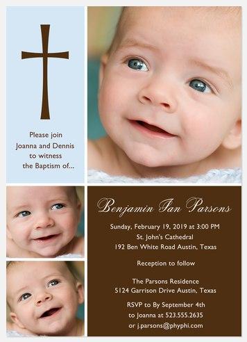 Blessing Christening Invitations