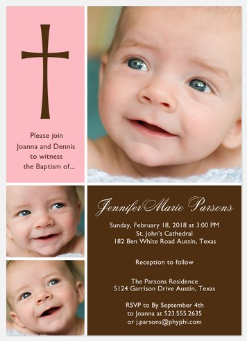 Blessing Baptism Invitations