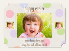 Bunny Hop Photo Easter Cards