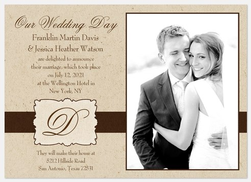 Wedding Announcements - Love Wedding Announcements