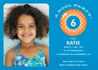 Photo Girl Birthday Invitations - Party Waves
