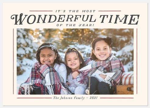 Wonderful Frame Holiday Photo Cards