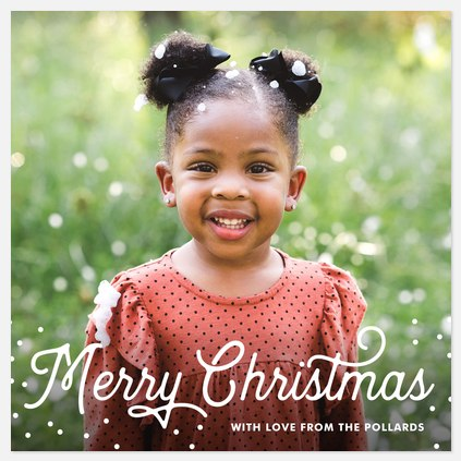 Light Flurries Holiday Photo Cards