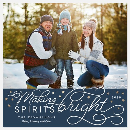 Starry Wishes Holiday Photo Cards