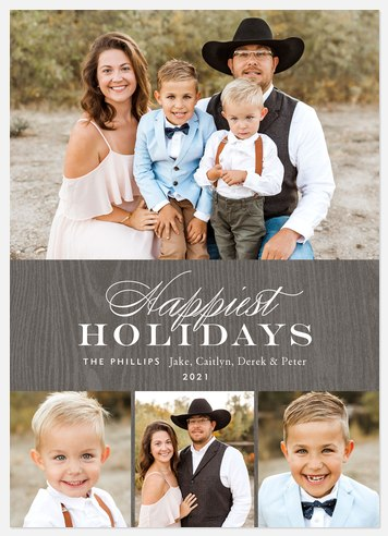 Merry Woodland Holiday Photo Cards