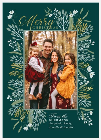 Wintergreen Frame Holiday Photo Cards