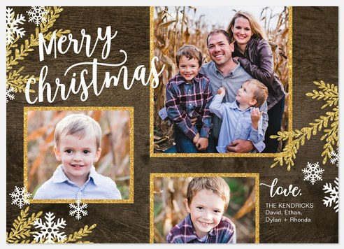 Rustica Glam Holiday Photo Cards