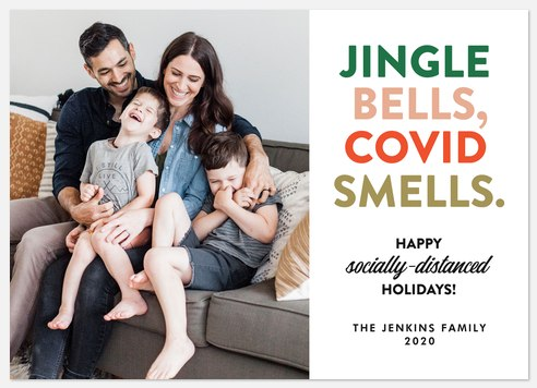 Multicolor Jingle Holiday Photo Cards