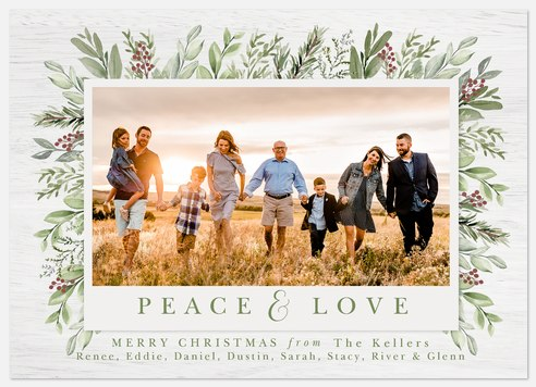 Winter Sage Holiday Photo Cards