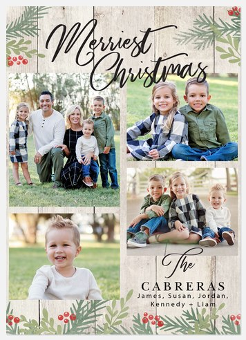 Country Barn Door Holiday Photo Cards