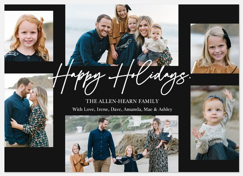 Charming Script Holiday Photo Cards