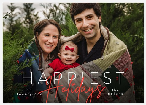 Modern Stack Holiday Photo Cards