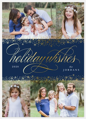 Sparkling Snowfall Holiday Photo Cards