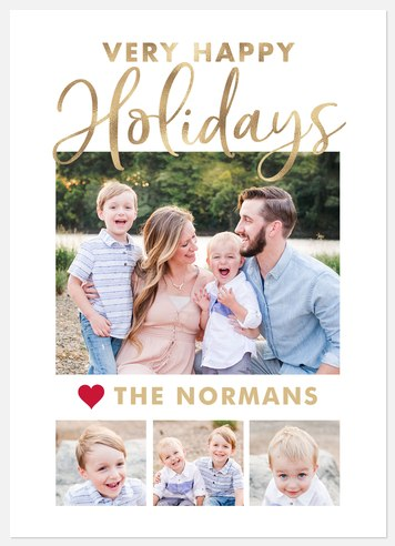 Very Golden Holiday Photo Cards