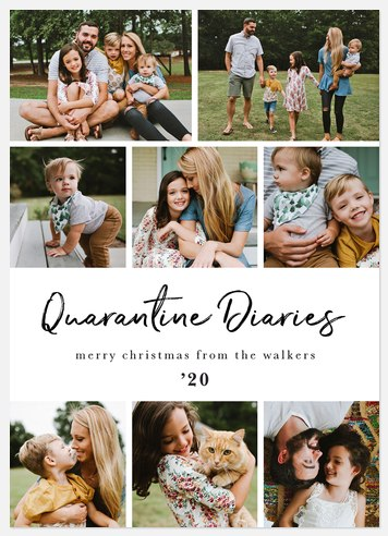 Quarantine Diaries Holiday Photo Cards