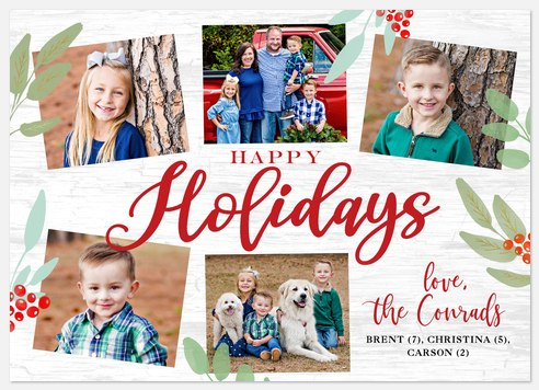 Farmhouse Cheer Holiday Photo Cards