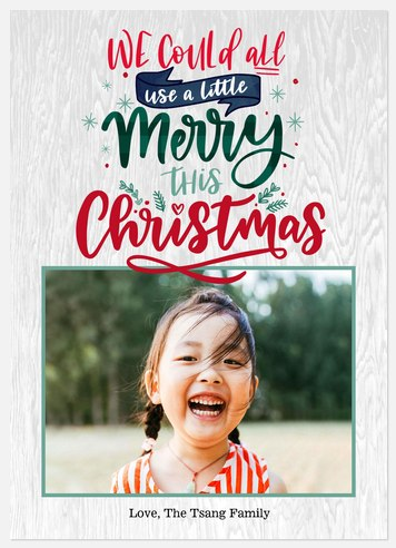 Little Merry Holiday Photo Cards