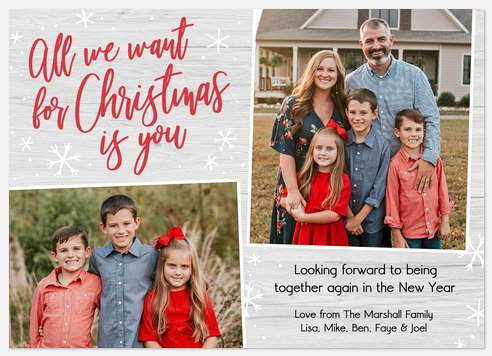 Christmas Wish Holiday Photo Cards