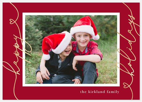 Lovely Greeting Holiday Photo Cards