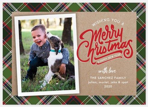 Plaid N' Kraft Holiday Photo Cards