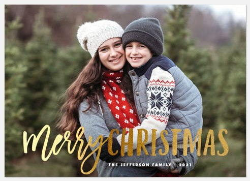 Iridescent Wishes Holiday Photo Cards