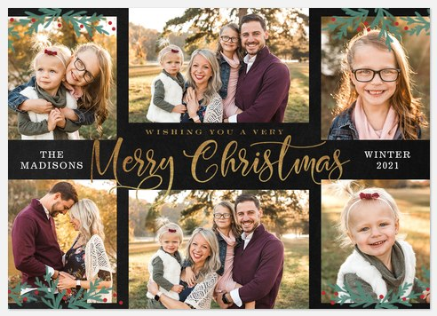 Fir Trimmings Holiday Photo Cards