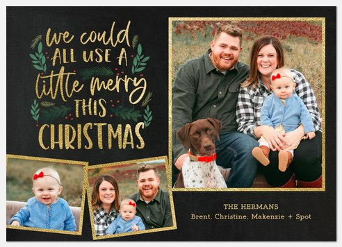 Merry Much Needed Holiday Photo Cards