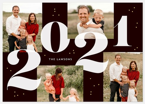 Bold Serifs Holiday Photo Cards