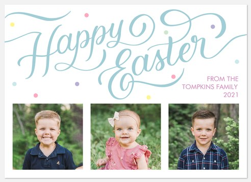 Springtime Whimsy Easter Photo Cards