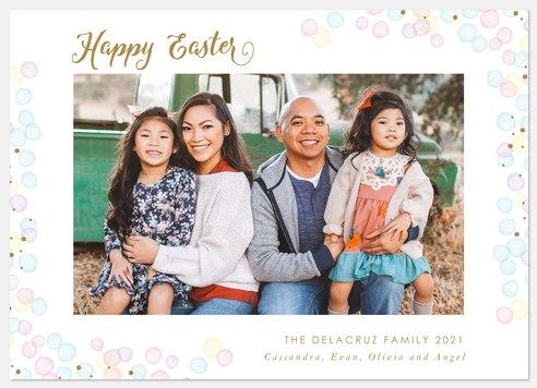 Pastel Shimmer Easter Photo Cards