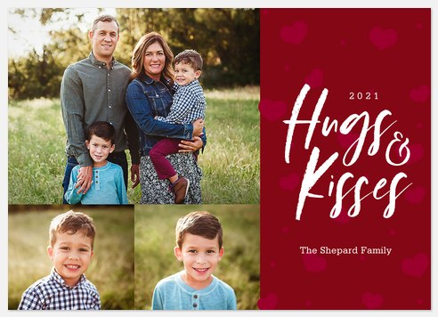 Hugs and Kisses Valentine Photo Cards