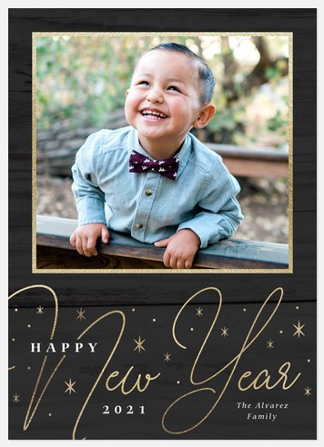 Starry Days Ahead Holiday Photo Cards