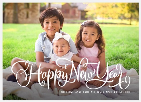 New Year Whimsy Holiday Photo Cards