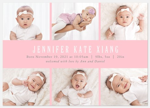 Perfect Details Baby Birth Announcements